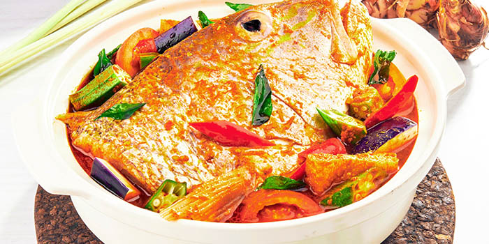 Curry Fish Head from Four Seasons Restaurant at Jewel Changi Airport in Changi, Singapore
