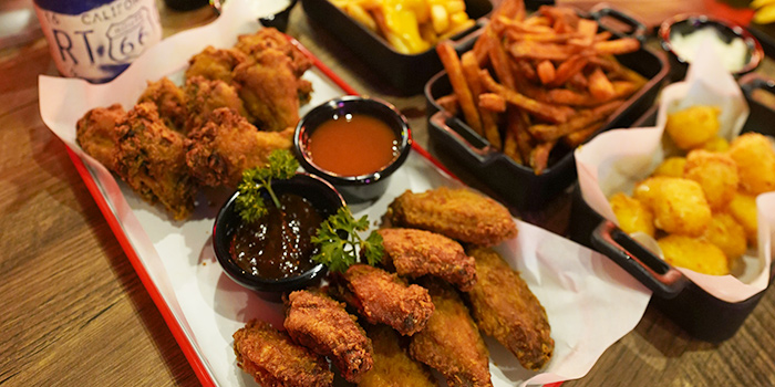 Assorted Food from Coyote Ugly Saloon in Clarke Quay, Singapore