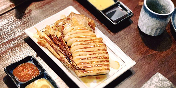 Grilled Squid from Fukusen Izakaya in Robertson Quay, Singapore