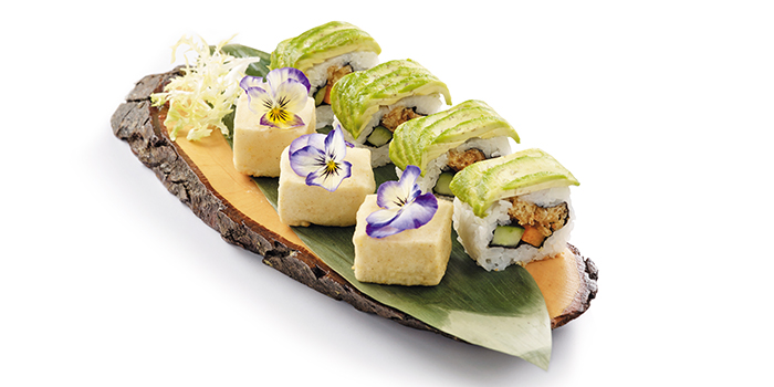 Tempura Tofu with Avocado Roll from Elemen @ Millenia Walk in Promenade, Singapore