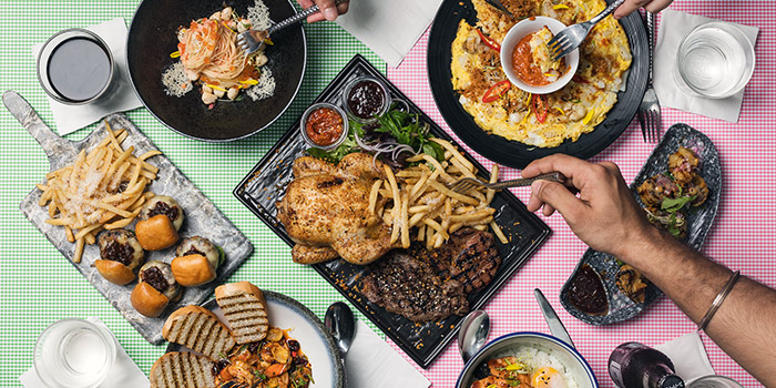 Assorted Food from Route 65 Bar + Kitchen at Suntec City North Wing in Promenade, Singapore