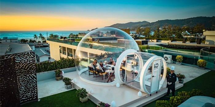 Atmosphere of Bubble Me Up in Patong, Phuket, Thailand