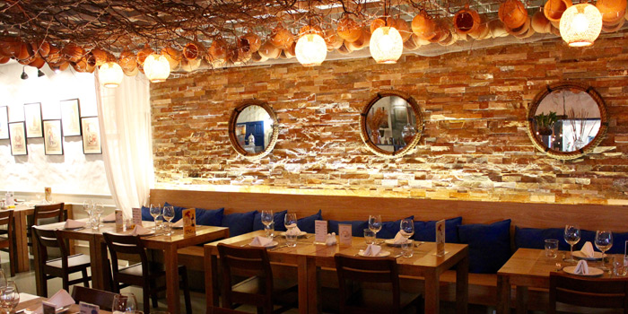 Dining Tables from AVRA Authentic Greek Restaurant in Sukhumvit Soi 33, Bangkok