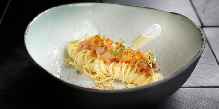 Langoustine chopped tossed with xo sauce, Maison ES, Wan Chai, Hong Kong