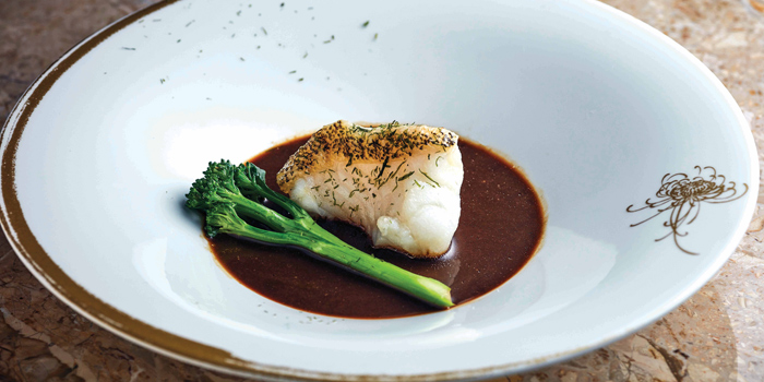 Oil-poached Tiger Garoupa Fillet with Seaweed Sauce, Man Ho Chinese Restaurant, Admiralty, Hong Kong