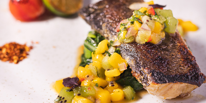 V Day - Pan-Roasted Thai Style Cod Fish, Glasshouse (IFC), Central, Hong Kong
