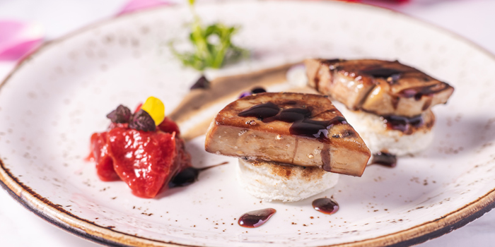 V Day - Pan-seared Foie Gras, Glasshouse (IFC), Central, Hong Kong
