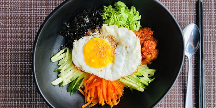Bibimbap from Ahtti Korean Restaurant at Vision Exchange in Jurong, Singapore