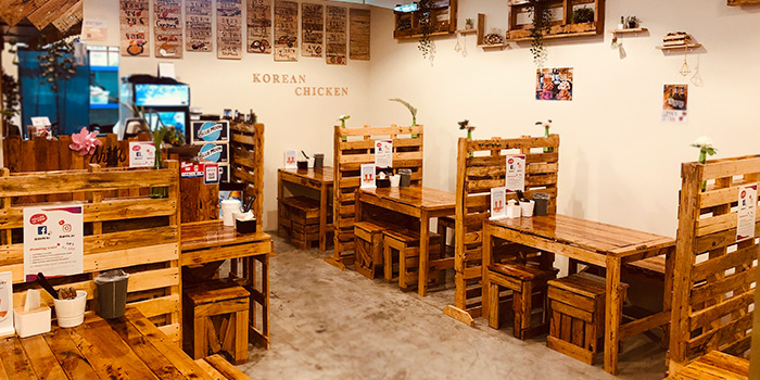 Interior of Ahtti Korean Restaurant at Vision Exchange in Jurong, Singapore