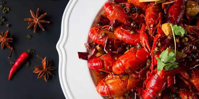 Mala Crayfish from Chunqiu Restaurant in Chinatown, Singapore