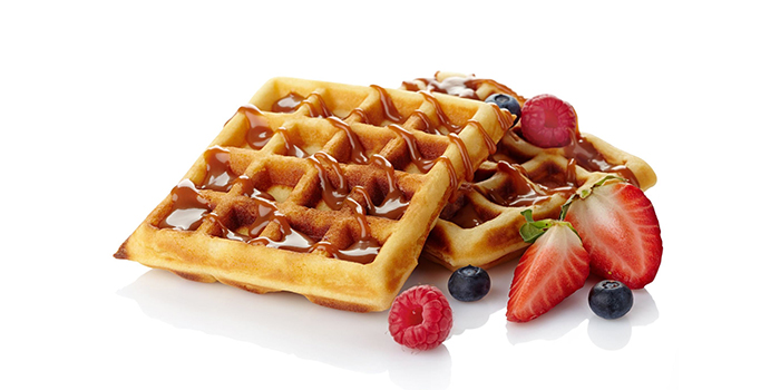 Strawberry Waffle from LanzaRote Cafe at High Street Centre in City Hall, Singapore