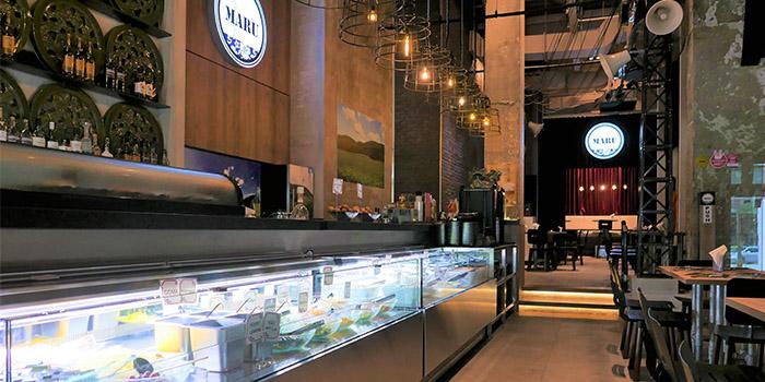 Salad Counter of Maru Japanese Restaurant at ICON Village in Tanjong Pagar, Singapore