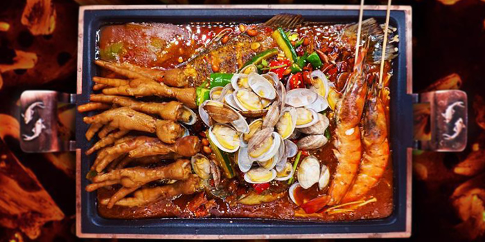 Chickenfeet, Clams in Limbo Fish from Ni Pang Zi Grilled Fish in Boat Quay, Singapore