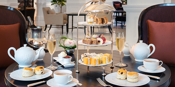 Afternoon Tea Set from The Grand Lobby at Raffles Singapore in City Hall, Singapore