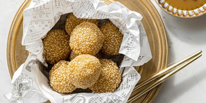 Sesame Balls from Nan Bei at Rosewood Bangkok Hotel 1041/38 Ploenchit Road Lumpini, Pathumwan Bangkok