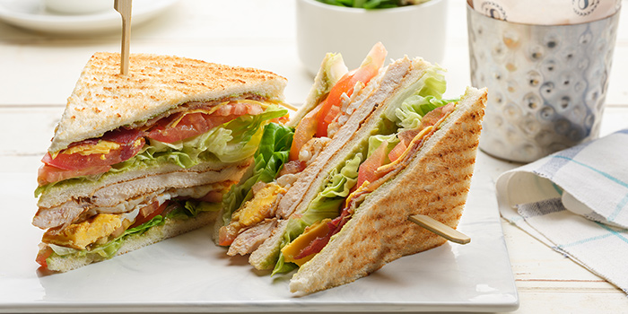 Club Sandwich from The Dining Room in Newton, Singapore