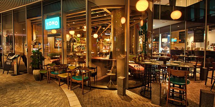 Terrace of TONO Cevicheria at Duo Galleria in Bugis, Singapore