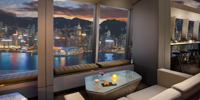 Terrace nightview, Ozone, Tsim Sha Tsui, Hong Kong