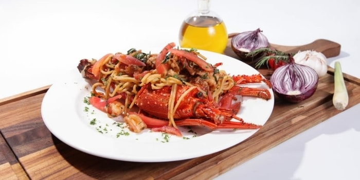 Spaghetti Lobster at Crazy Uncle Restaurant & Bar
