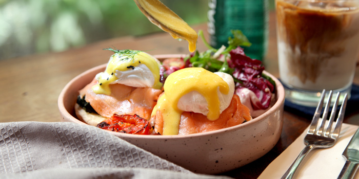 Egg Benedict with Smoked Salmon from Herringbone at 26/1 Sukhumvit 53 Alley Khlong Tan Nuea, Wattana Bangkok