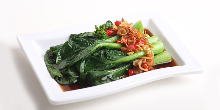 Choy Sim with Oyster Sauce from Founder Bak Kut Teh (Hotel Boss) in Lavender, Singapore