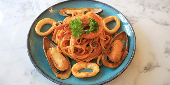 Tom Yum Seafood Pasta from Good Bites at Bishan Sports Hall in Bishan, Singapore