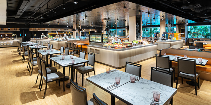 Dining Space of Spice Brasserie in Little India, Singapore