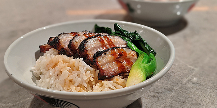Black Char Siew Rice from Spice Brasserie in Little India, Singapore