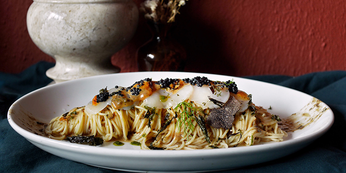 Cold Angel Hair Pasta from Casa Tartufo in River Valley, Singapore