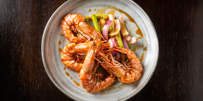 Stir fried Tiger Prawns with Buttery Honey Sauce, Moi Moi, Central, Hong Kong