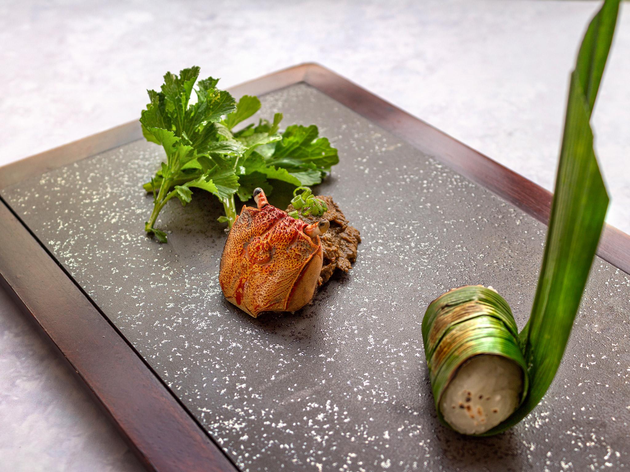 Crab Paste from Basil at Sheraton Grande Hotel, Bangkok