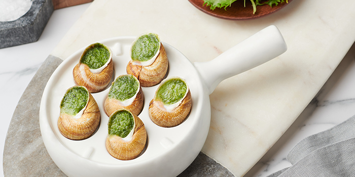 Escargots de Bourgogne from Brasserie Les Saveurs at St. Regis Singapore in Tanglin, Singapore