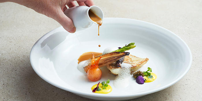 Fish from Origin Grill at Shangri-La Hotel in Orchard, Singapore