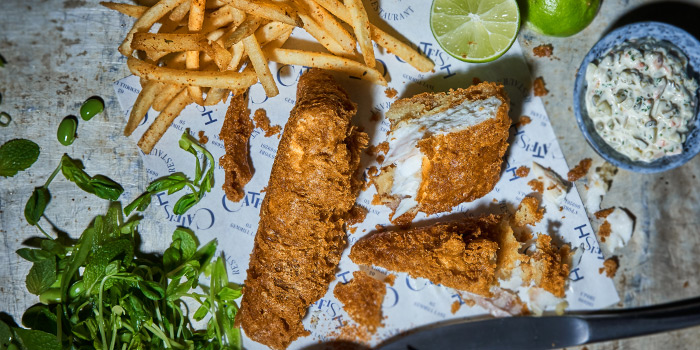 Fish and Chips from Catfish in Telok Ayer, Singapore