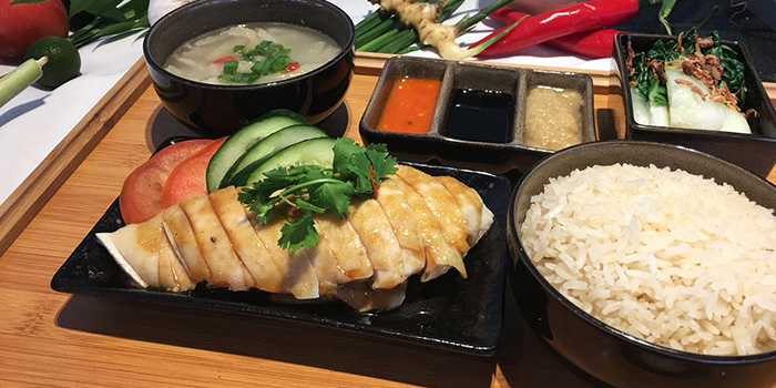 Chicken Rice from Shutters at Amara Sanctuary in Sentosa, Singapore