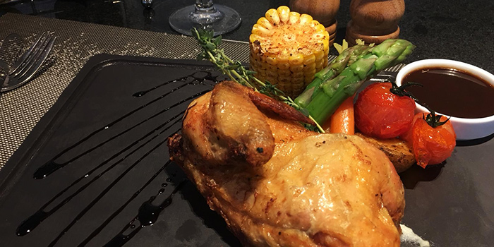 Roast Chicken from Shutters at Amara Sanctuary in Sentosa, Singapore