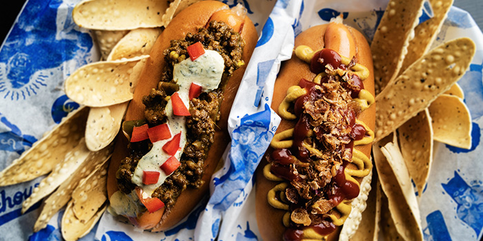 Classic Dog & Kerala Beef Dog from Freehouse in Raffles Place, Singapore
