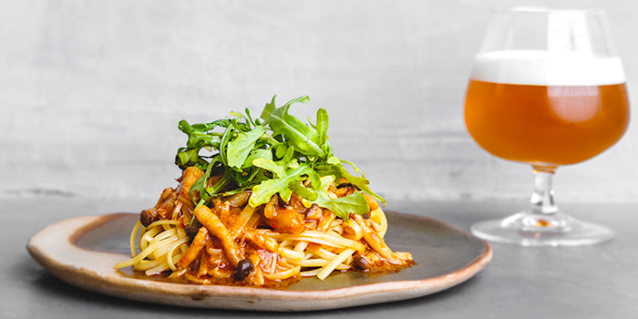 Chilli Crab Shrooms Linguine from Almost Famous Craft Beer Bar in CHIJMES, Singapore