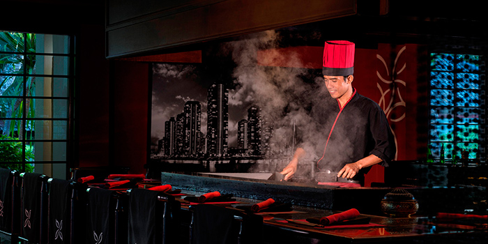 Teppanyaki Bar from KO Japanese Restaurant in Jimbaran, Bali