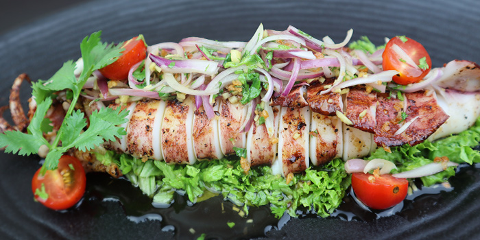 Grilled Fresh Large Squid from Black Pearl Steakhouse in East Coast, Singapore