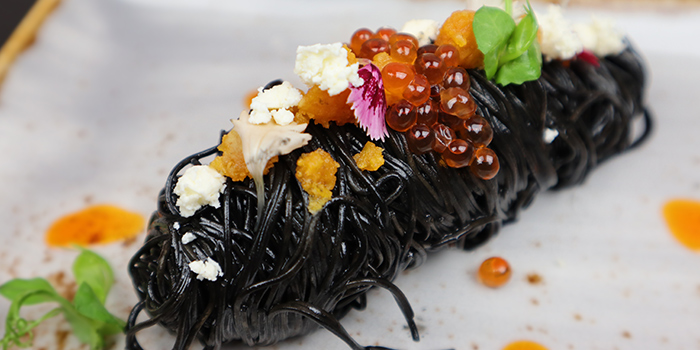 Squid Ink Pasta from Black Pearl Steakhouse in East Coast, Singapore