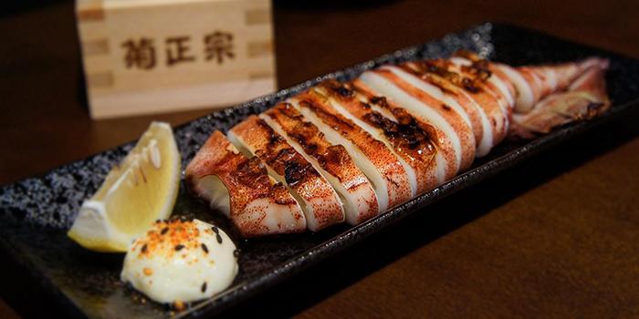 Grilled Squid from Izakaya Hikari at Fortune Centre in Bugis, Singapore.