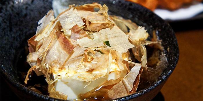 Tofu from Izakaya Hikari at Fortune Centre in Bugis, Singapore.