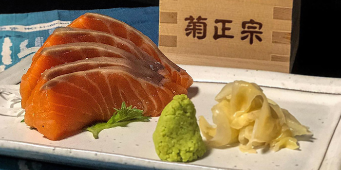 Salmon Sashimi from Izakaya Hikari at Fortune Centre in Bugis, Singapore.