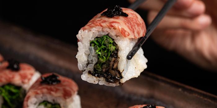 Kobe gyu sushi roll, Kyoto Joe, Central, Hong Kong