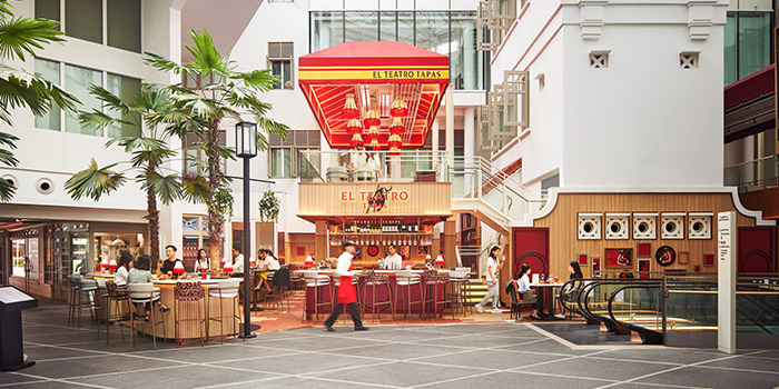 Exterior of El Teatro Tapas at Arcade @ The Capitol Kempinski in City Hall, Singapore