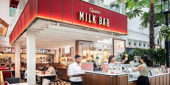 Exterior of Capitol Milk Bar at Arcade @ The Capitol Kempinski in City Hall, Singapore