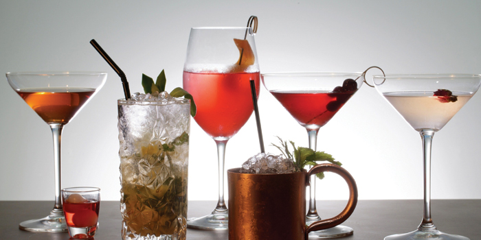 Cocktails, LEVELthirty Lounge & Bar, Shatin, Hong Kong