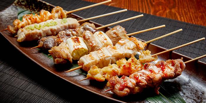 Grilled Chicken liver, heart, neck, fillet, KIDO Yakitori Kushiage, Tsim Sha Tsui, Hong Kong