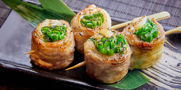 Garlic Chives & Cheese Sangen Pork Roll, KIDO Yakitori Kushiage, Tsim Sha Tsui, Hong Kong